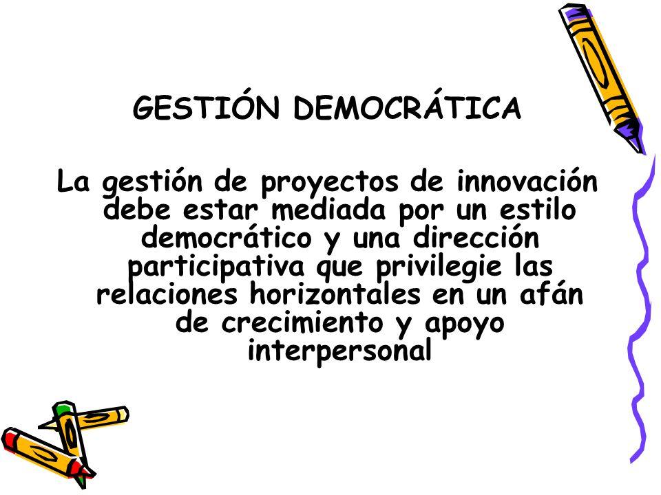GESTIÓN DEMOCRÁTICA