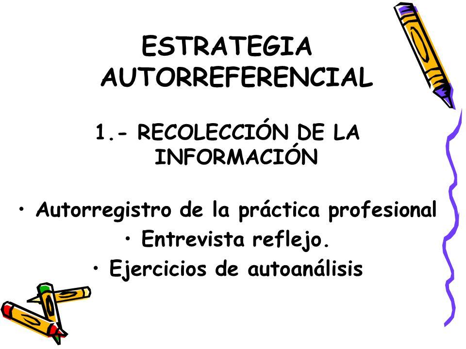 ESTRATEGIA AUTORREFERENCIAL