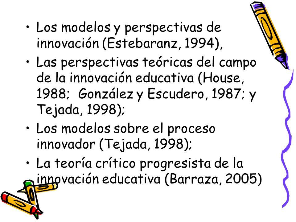 Los modelos y perspectivas de innovación (Estebaranz, 1994),