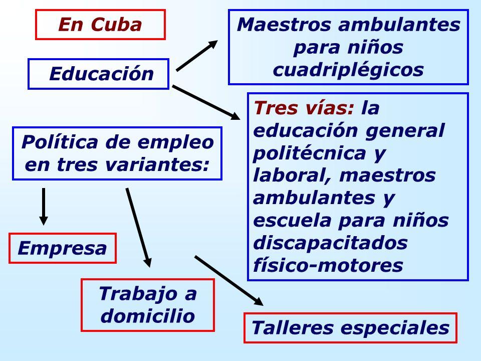 Maestros ambulantes para niños cuadriplégicos