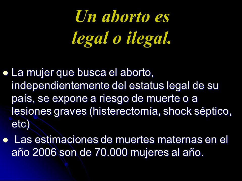 Un aborto es legal o ilegal.