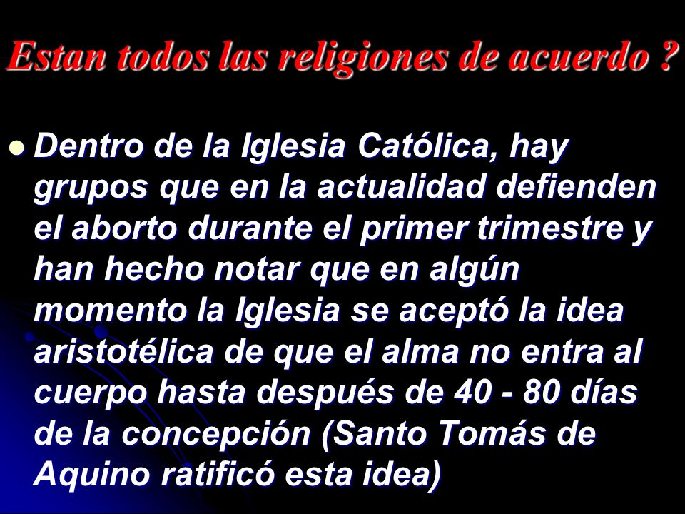 Estan todos las religiones de acuerdo
