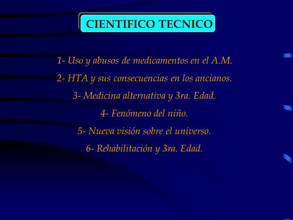 CIENTIFICO TECNICO 1- Uso y abusos de medicamentos en el A.M.