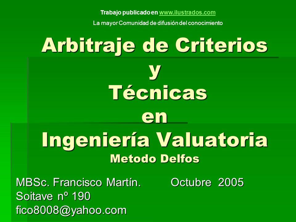 MBSc. Francisco Martín. Octubre 2005 Soitave nº 190 fico8008@yahoo.com