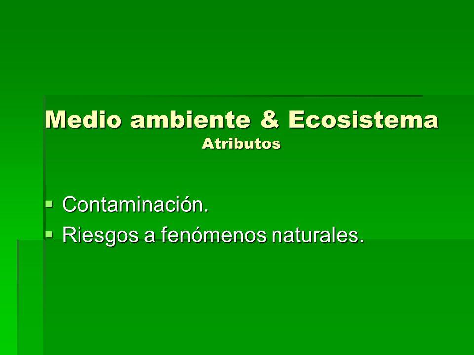 Medio ambiente & Ecosistema Atributos