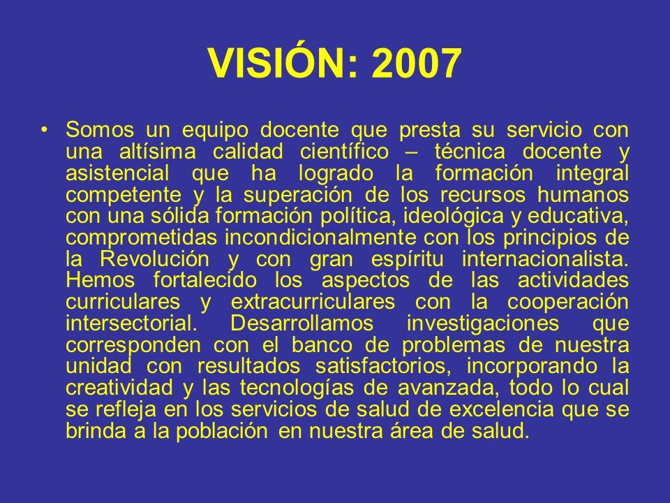 VISIÓN: 2007