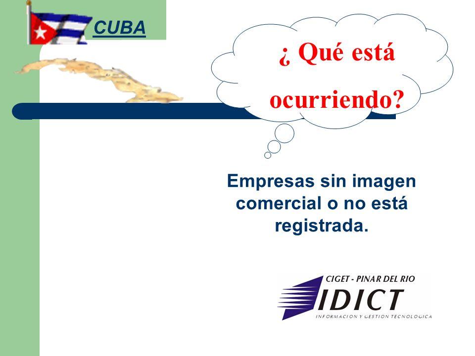 Empresas sin imagen comercial o no está registrada.