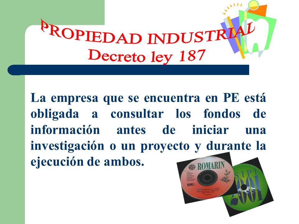 PROPIEDAD INDUSTRIAL Decreto ley 187