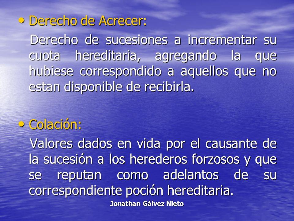 Derecho de Acrecer: