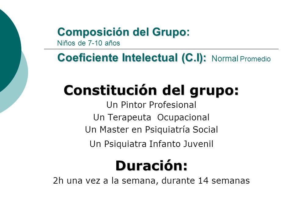 Constitución del grupo: