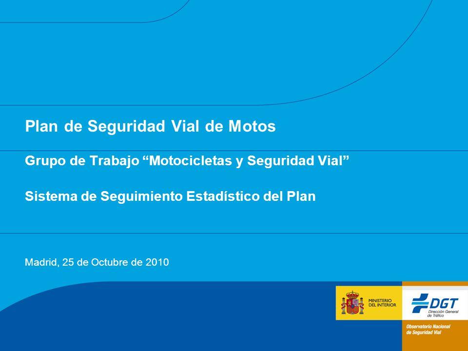 Plan de Seguridad Vial de Motos Grupo de Trabajo Motocicletas y Seguridad Vial Sistema de Seguimiento Estadístico del Plan