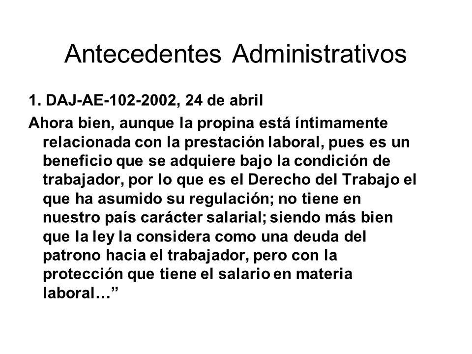 Antecedentes Administrativos