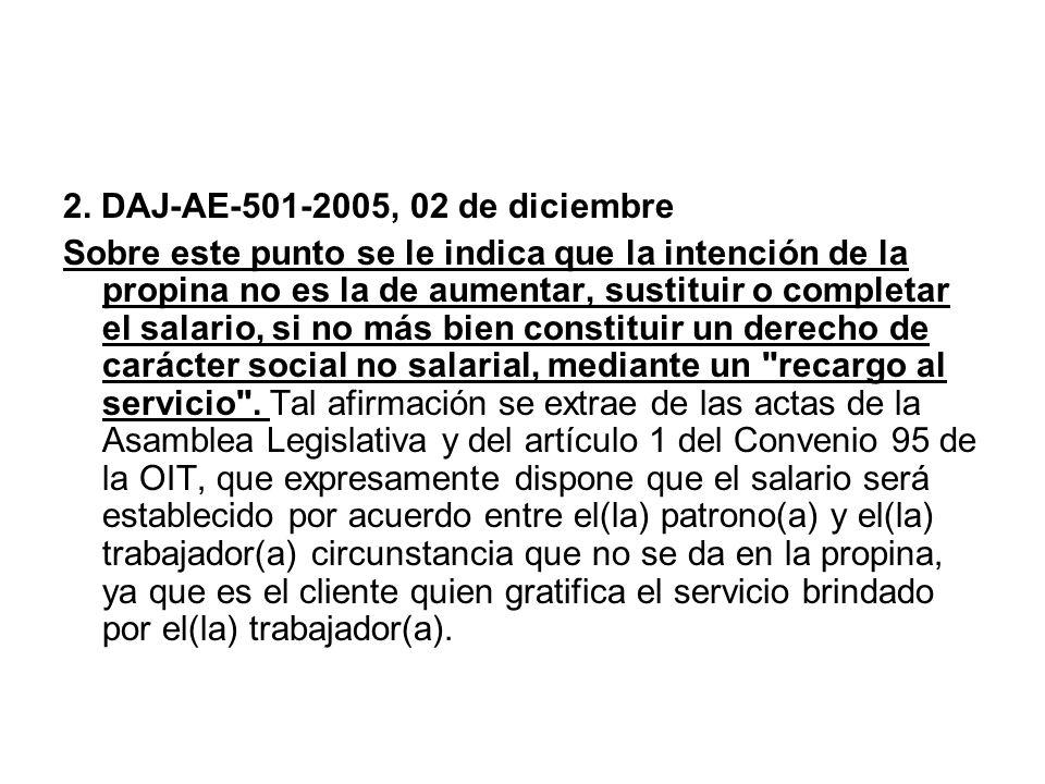 2. DAJ-AE-501-2005, 02 de diciembre