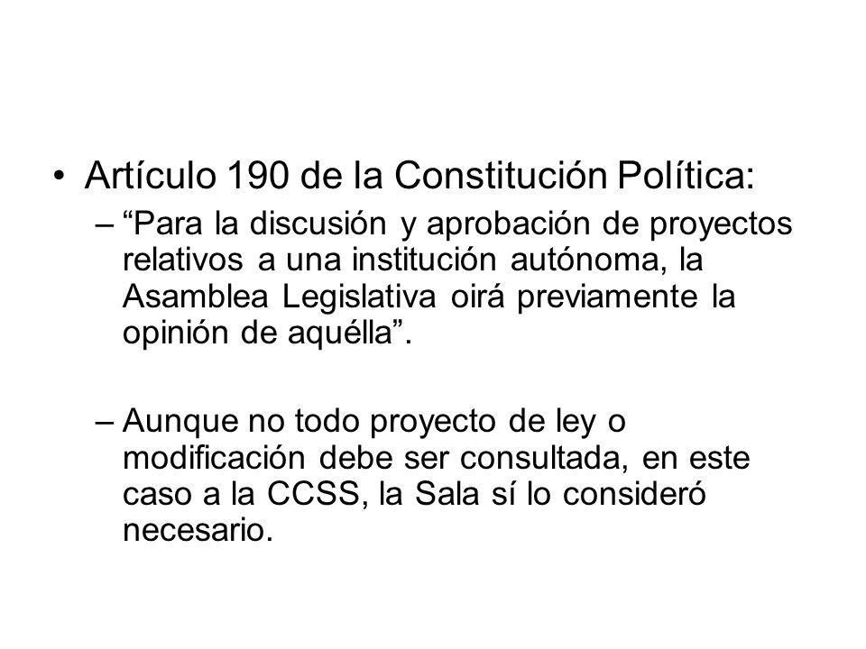 Artículo 190 de la Constitución Política: