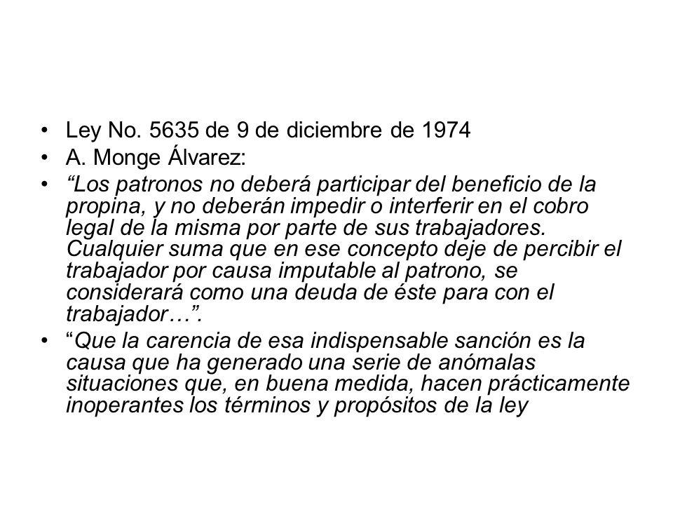 Ley No. 5635 de 9 de diciembre de 1974