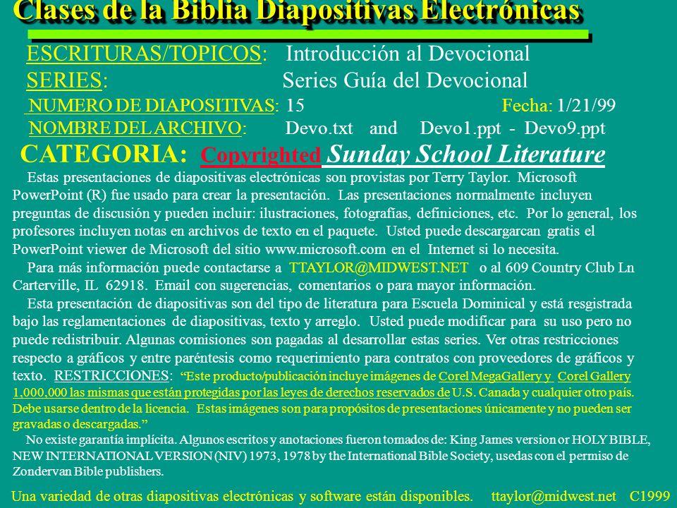 Clases de la Biblia Diapositivas Electrónicas