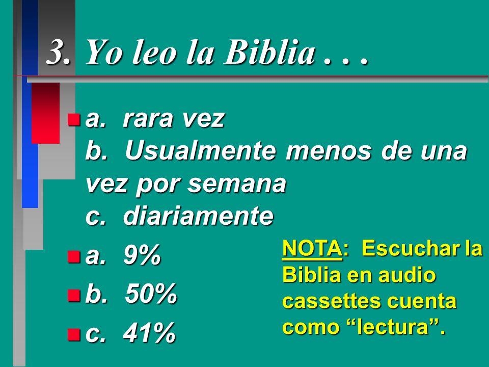 3. Yo leo la Biblia . . .