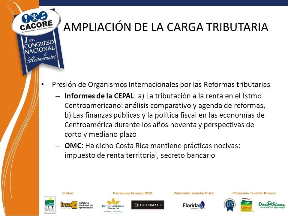 AMPLIACIÓN DE LA CARGA TRIBUTARIA