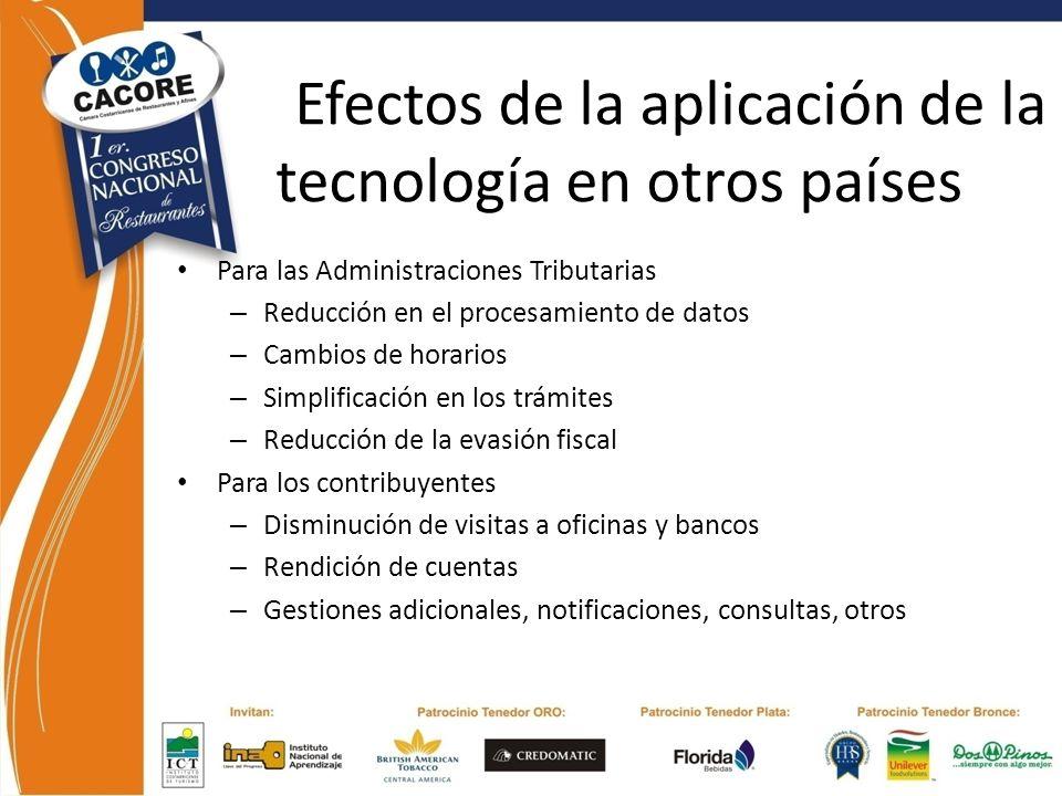 Efectos de la aplicación de la tecnología en otros países