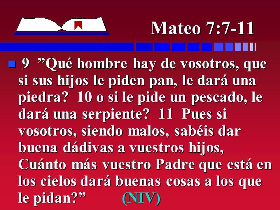 Mateo 7:7-11