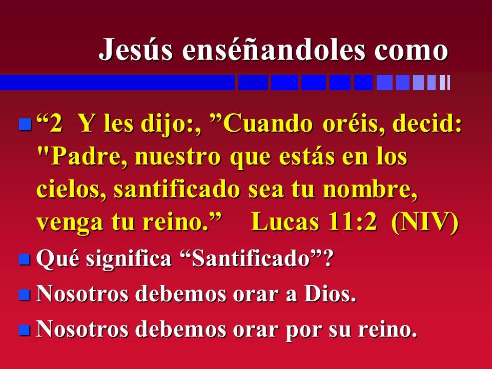 Jesús enséñandoles como