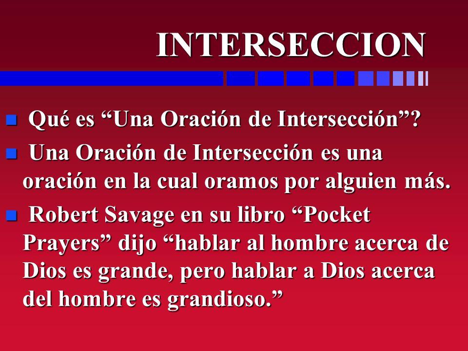 INTERSECCION Qué es Una Oración de Intersección