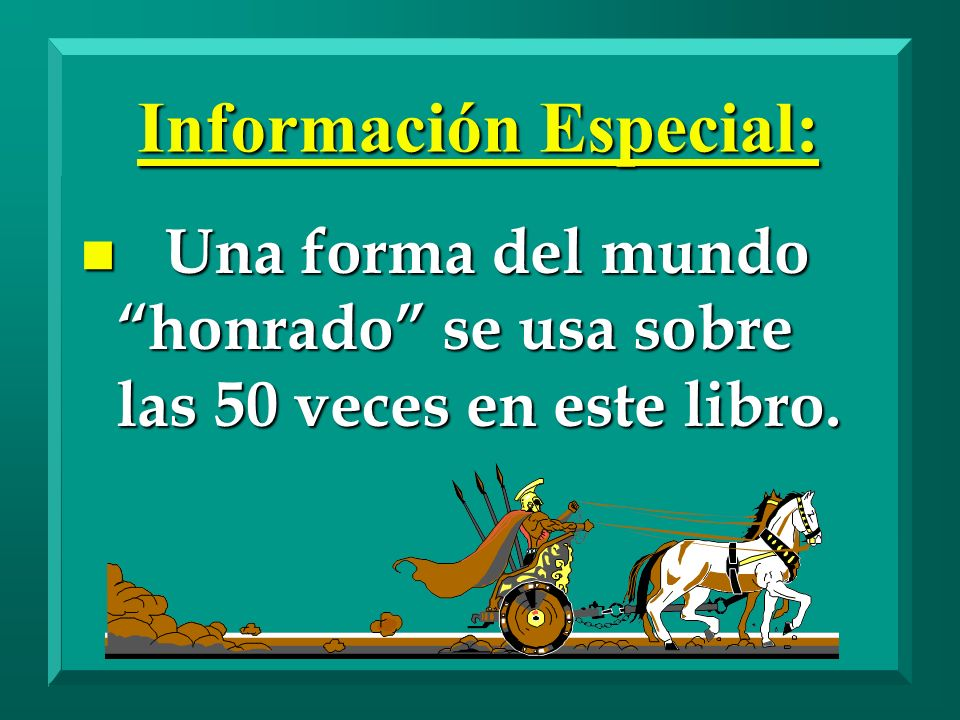 Información Especial:
