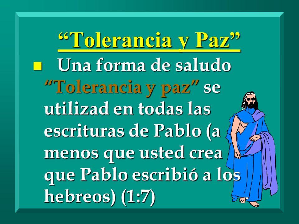 Tolerancia y Paz