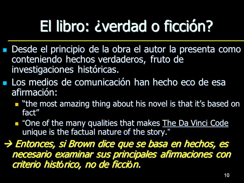 El libro: ¿verdad o ficción