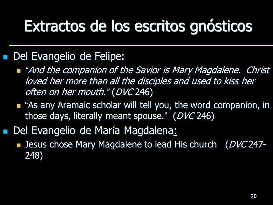 Extractos de los escritos gnósticos