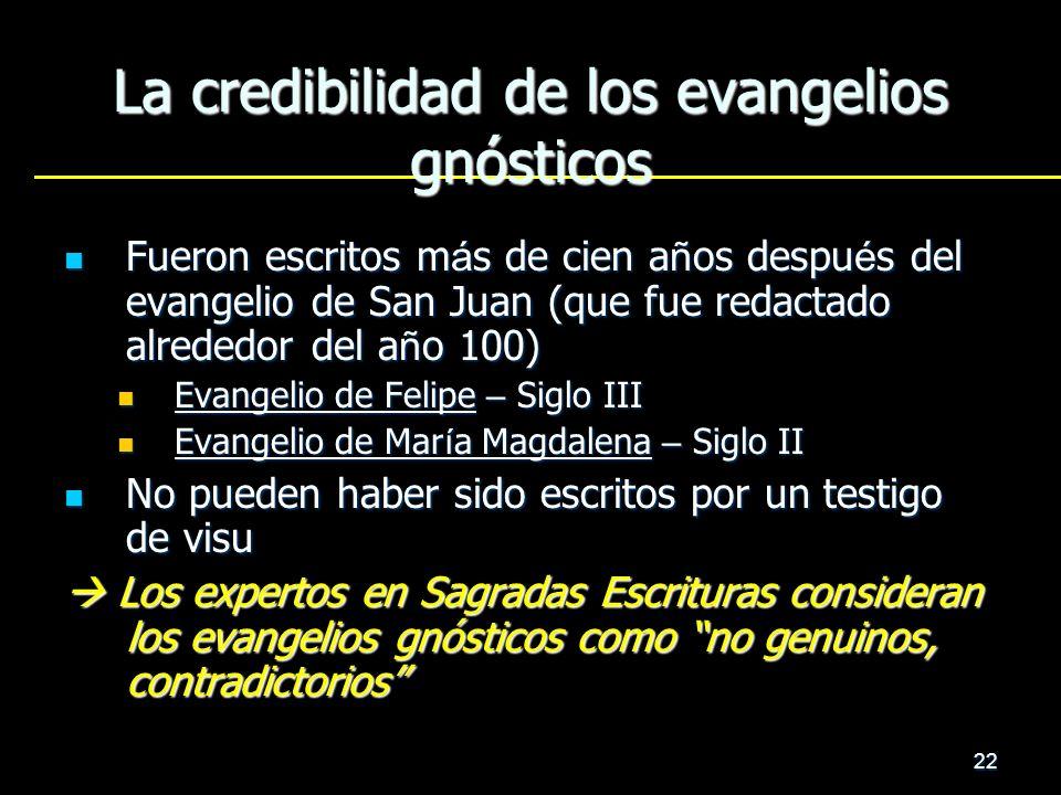 La credibilidad de los evangelios gnósticos