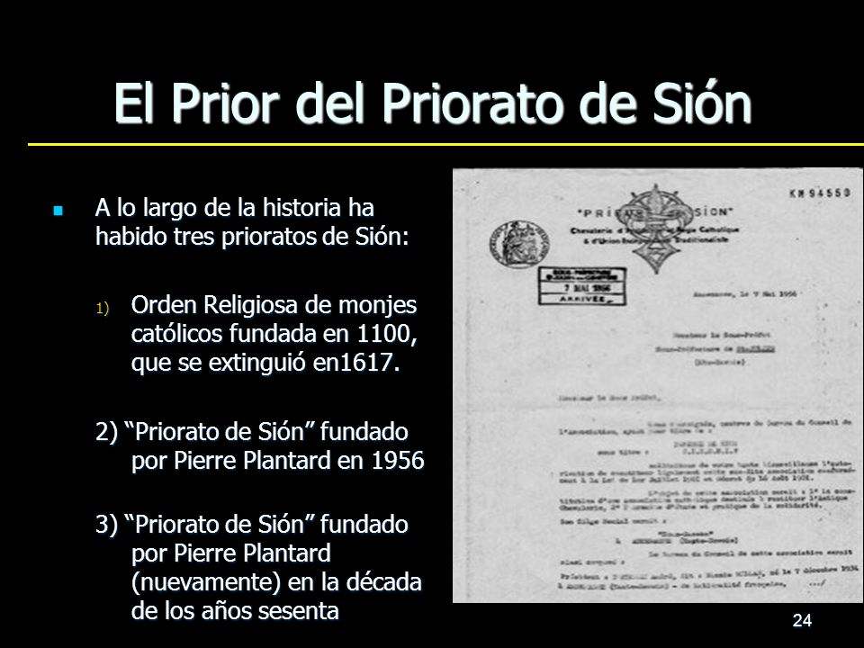 El Prior del Priorato de Sión