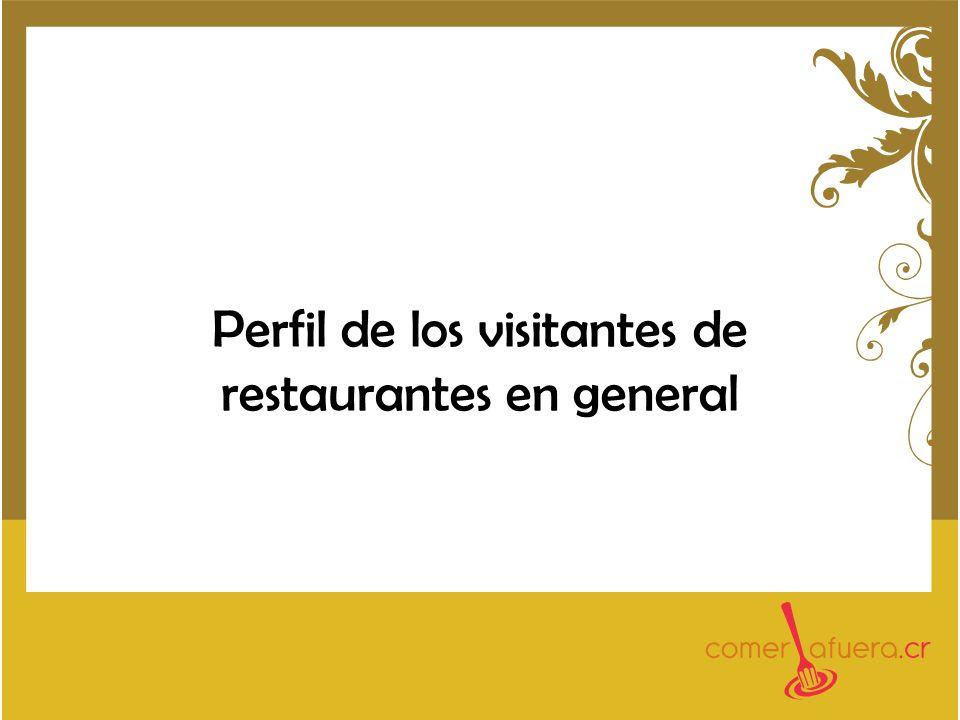 Perfil de los visitantes de restaurantes en general