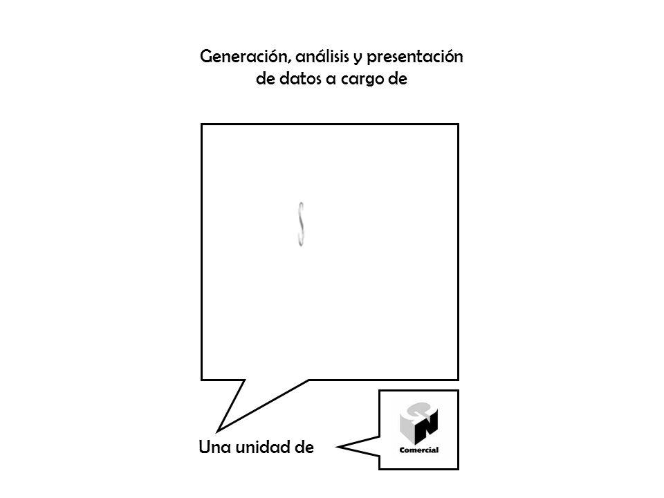 Generación, análisis y presentación de datos a cargo de