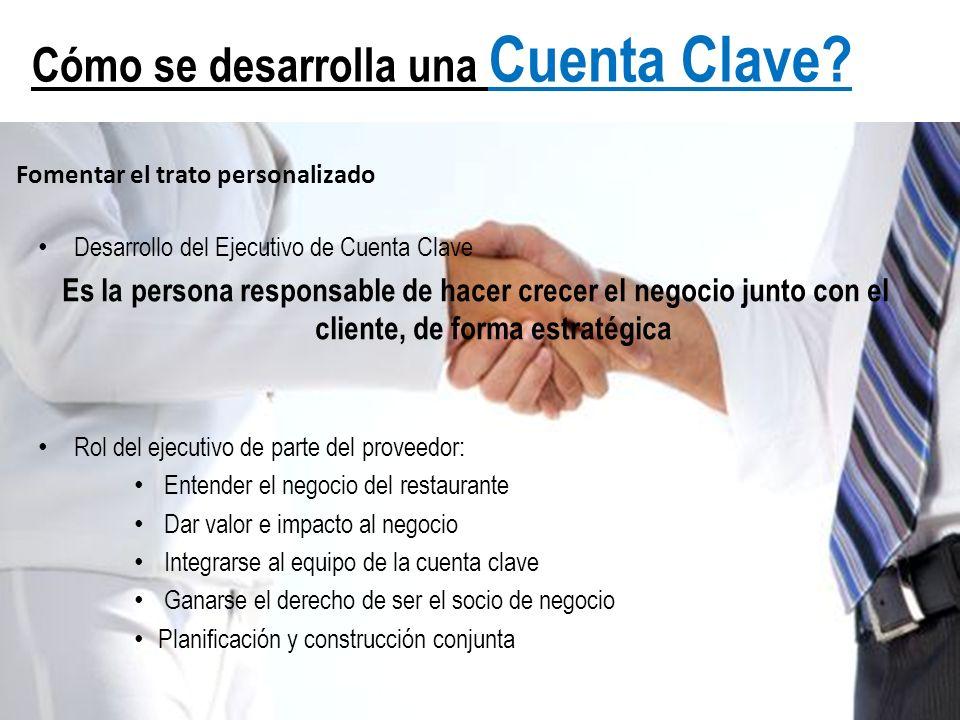 Cómo se desarrolla una Cuenta Clave