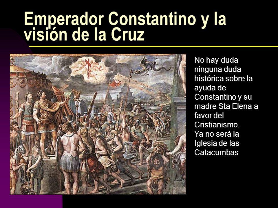 Emperador Constantino y la visión de la Cruz