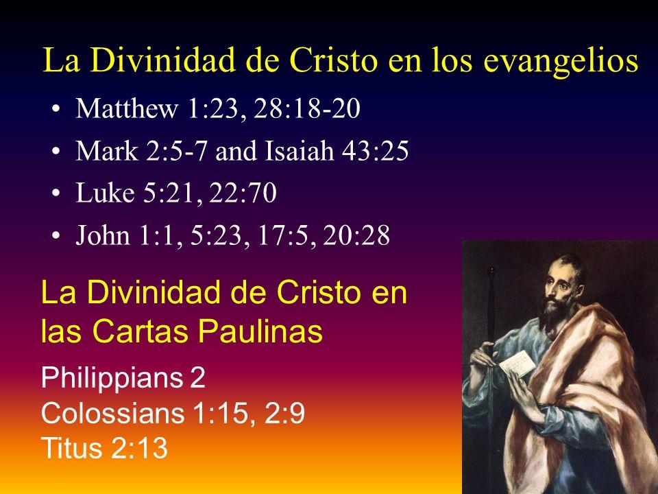 La Divinidad de Cristo en los evangelios