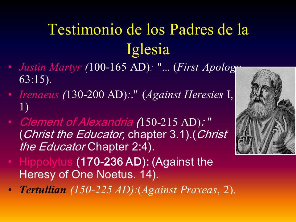 Testimonio de los Padres de la Iglesia