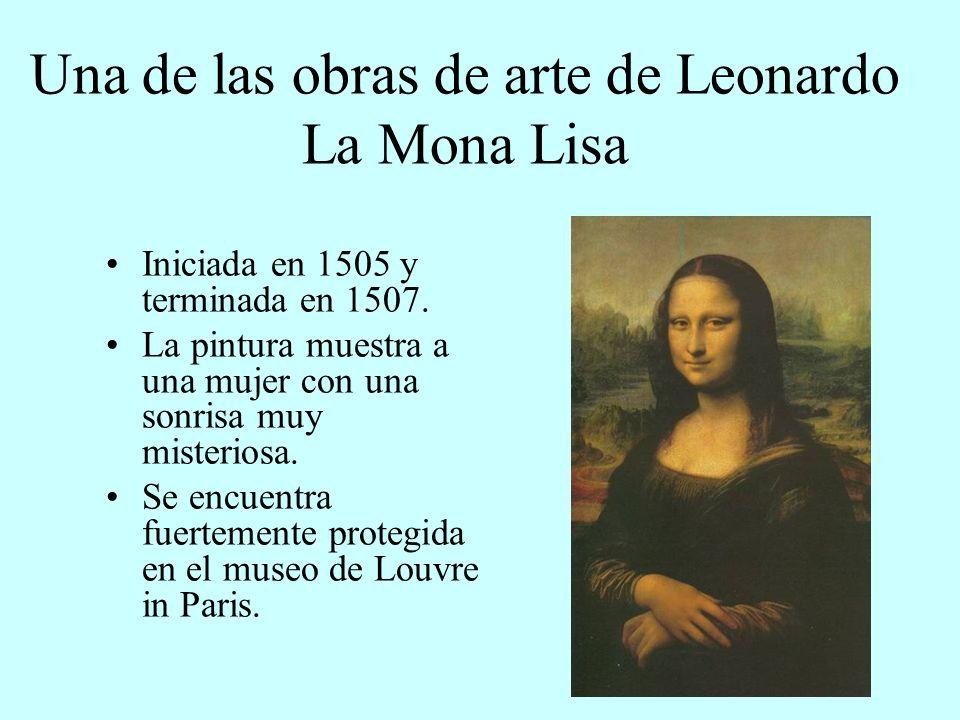 Una de las obras de arte de Leonardo La Mona Lisa