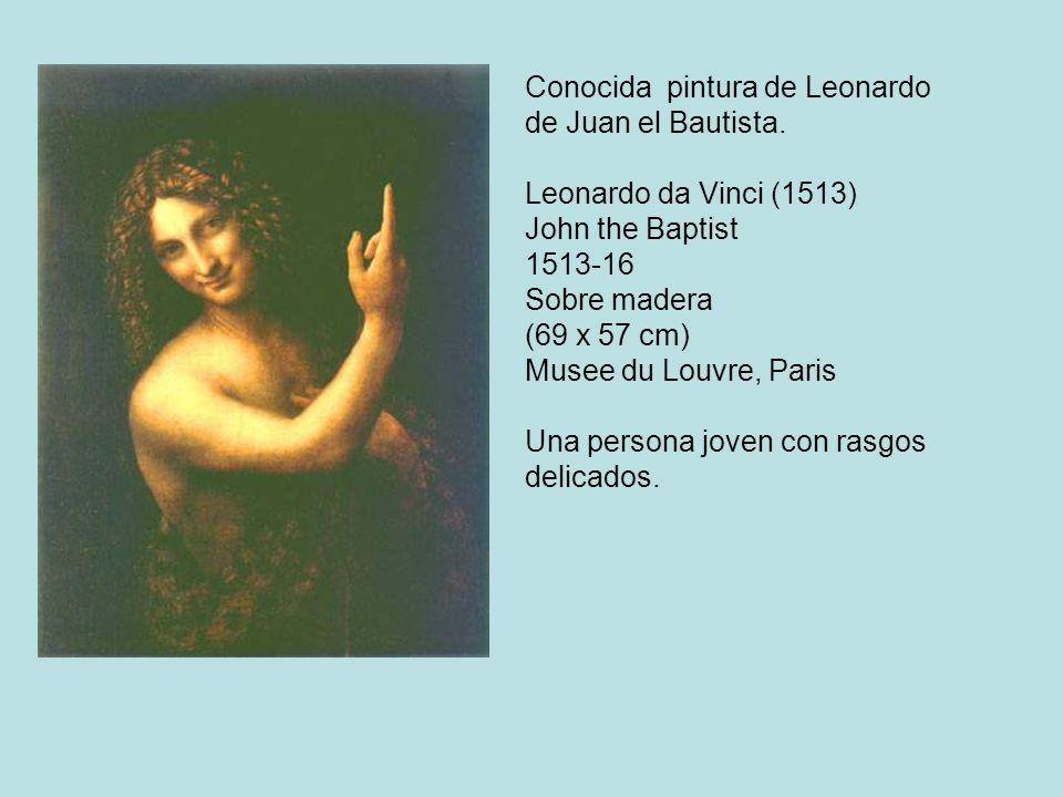 Conocida pintura de Leonardo de Juan el Bautista.