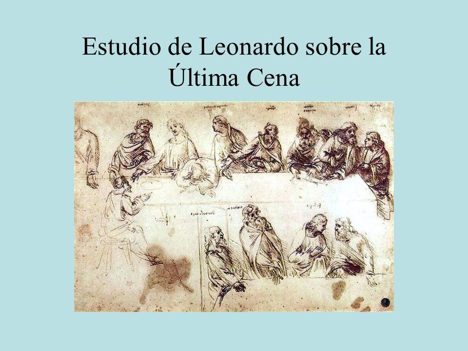 Estudio de Leonardo sobre la Última Cena