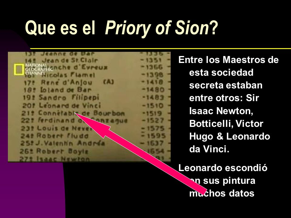 Que es el Priory of Sion