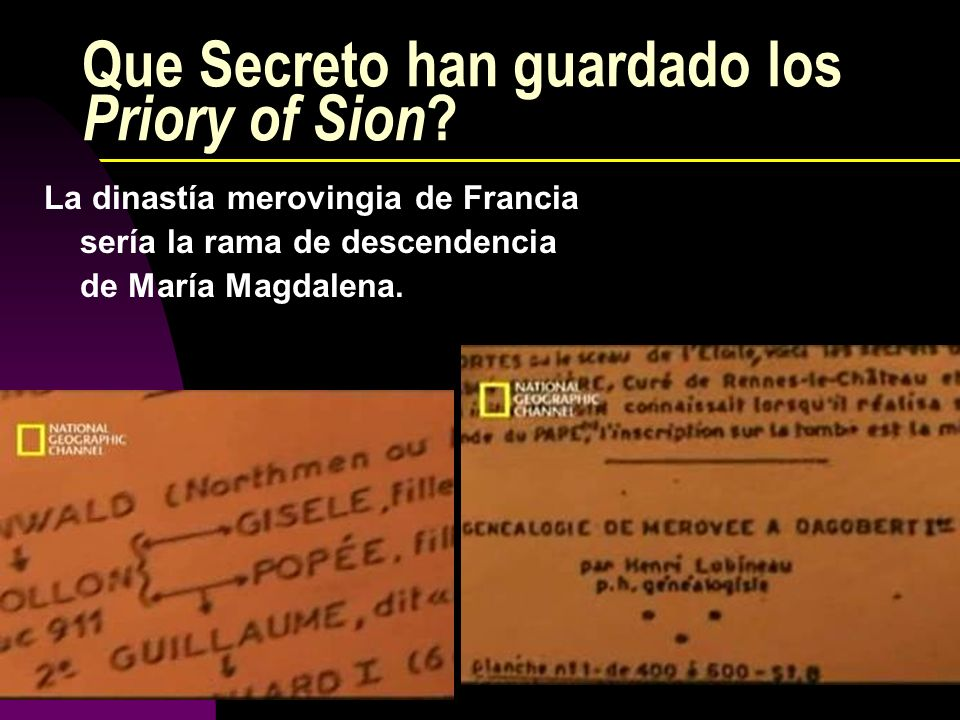 Que Secreto han guardado los Priory of Sion