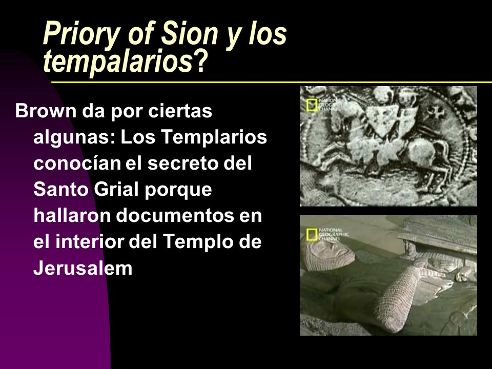 Priory of Sion y los tempalarios