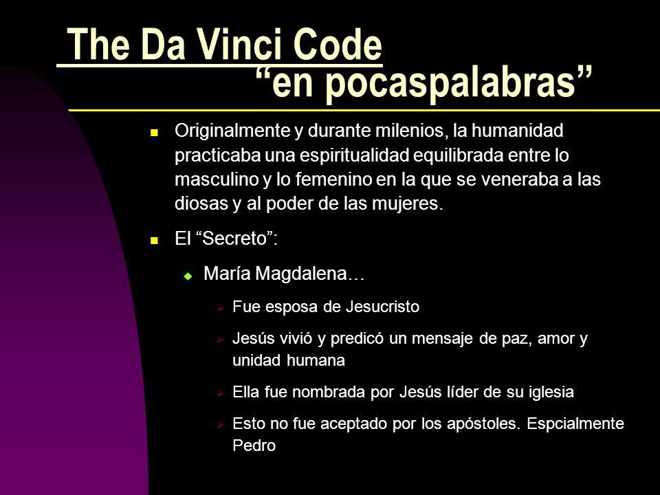 The Da Vinci Code en pocaspalabras