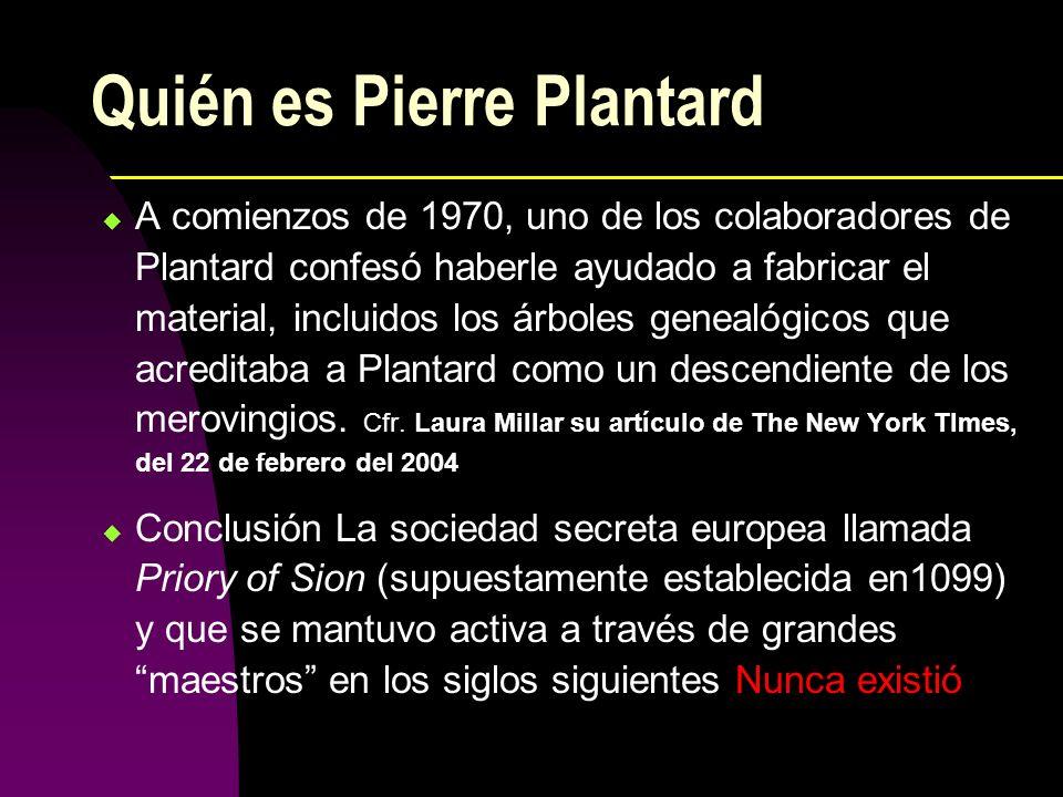 Quién es Pierre Plantard