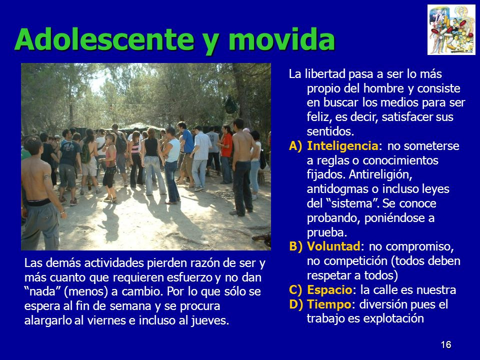 Adolescente y movida