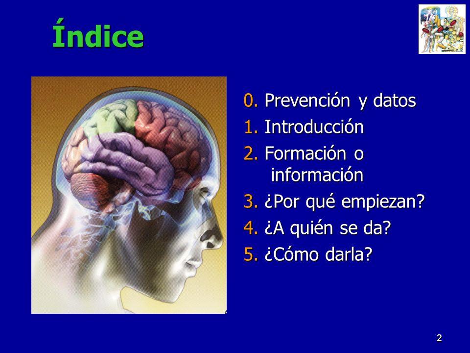 Índice 0. Prevención y datos 1. Introducción