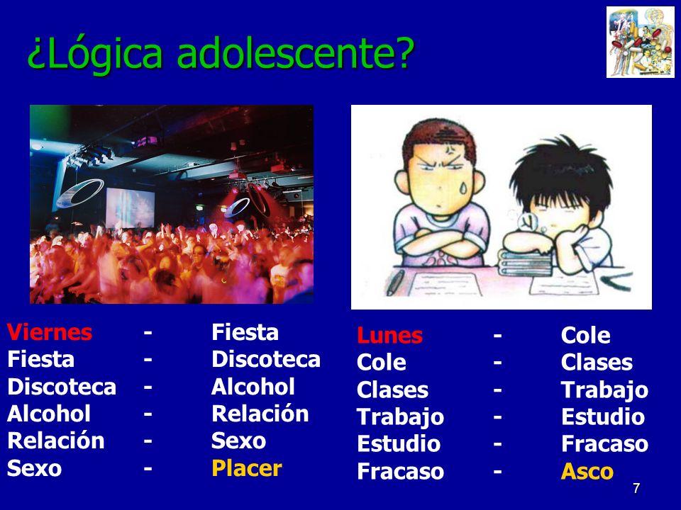¿Lógica adolescente Viernes - Fiesta Lunes - Cole Fiesta - Discoteca