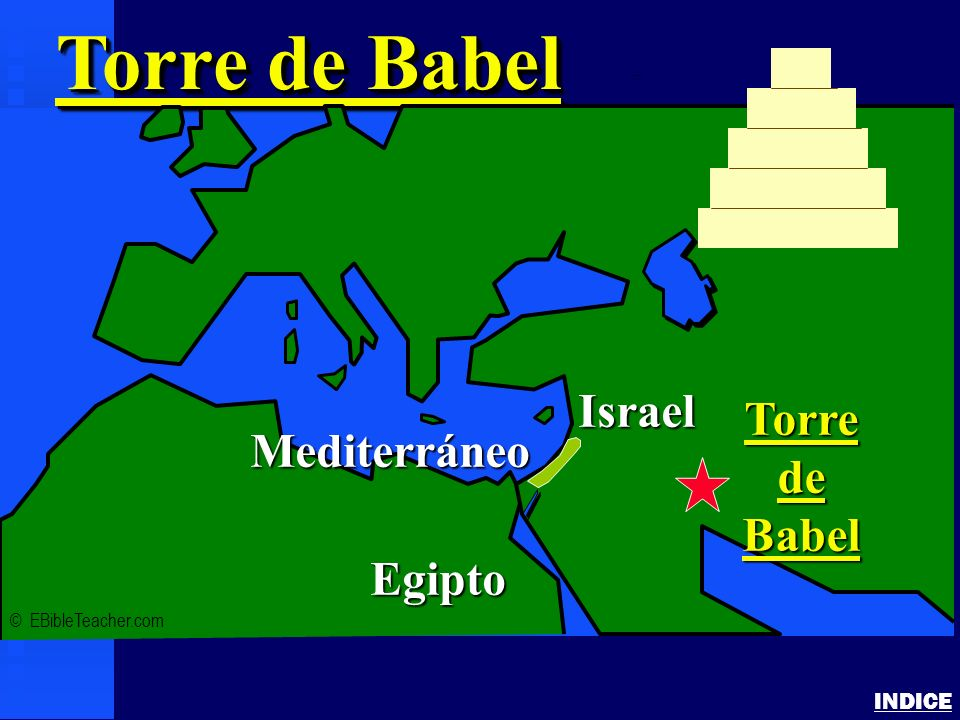 Torre de Babel Israel Torre de Mediterráneo Babel Egipto INDICE